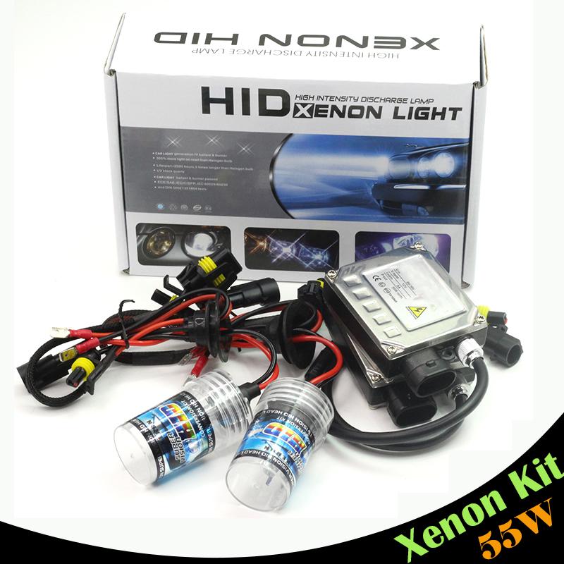 55W H7 Xenon Bulb Ballast Conversion HID KIT DC Car Headlight Fog Light DRL 3000K 4300K 5000K 6000K 8000K 10000K 12000K 15000K(China (Mainland))