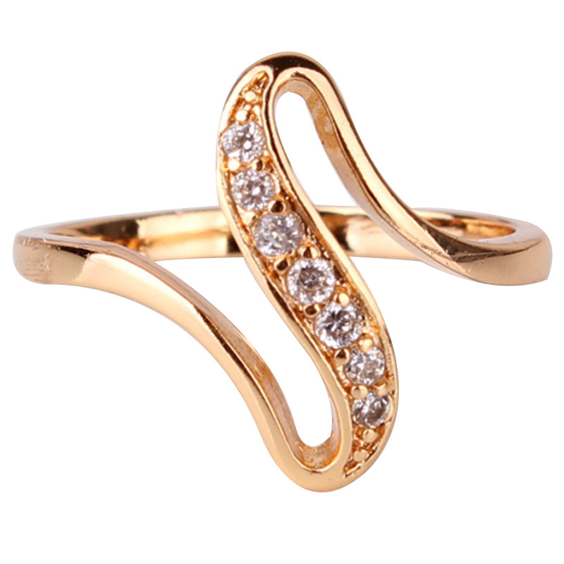 2016 Cheap Women Finger Rings 18K Gold Plated Engagement Wedding Rings for Women Cubic Zirconia CZ