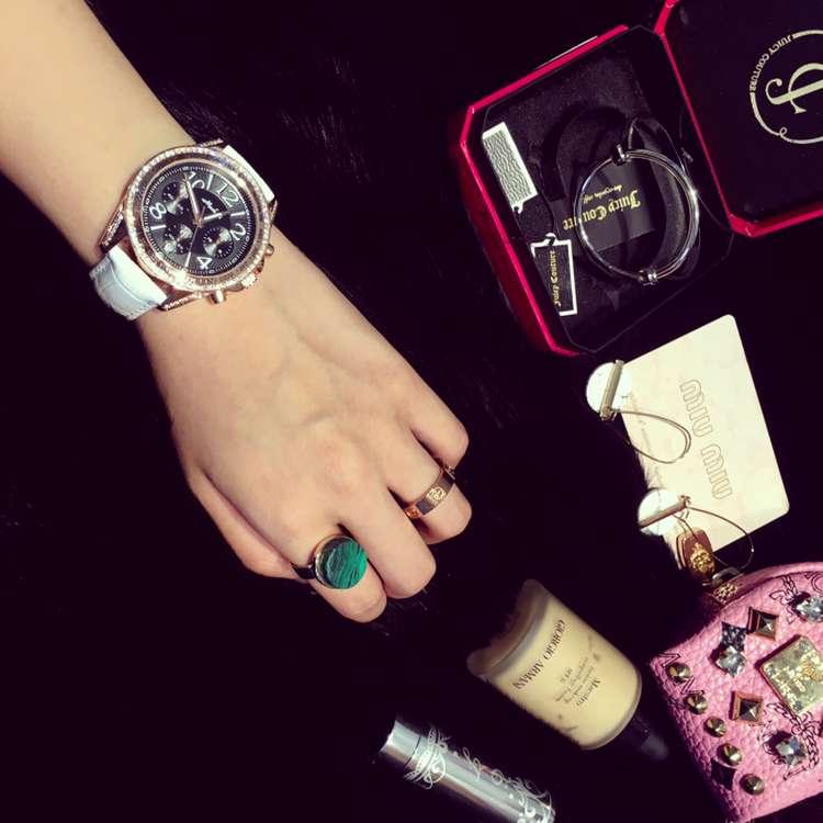 Люксовый Бренд Женские Часы Женщины Мода 3 Глаза Часы женские Кожаные Календарь Кварцевые Часы Часы Relogio Feminino OP001