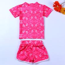 Newest Fashion Hello Kitty Children Girls Summer Clothing Set Character Cute T Shirt Pant Kids Swimwear