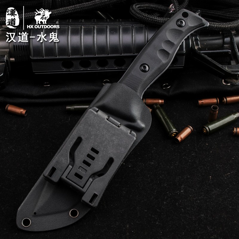 Buy HX OUTDOORS The sub D2 steel high hardness field survival knife self-defense tactics carry outdoor knife cutter knife cheap