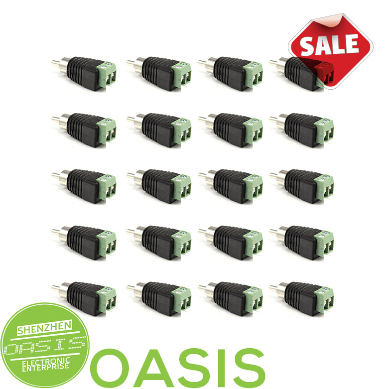 20pcs Cat5/Cat6 Cable to AV RCA Male Video balun Connector(China (Mainland))