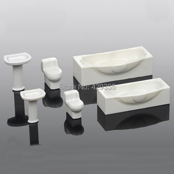 Scale 1 50 model furniture for washing room set model wash Scale model furniture