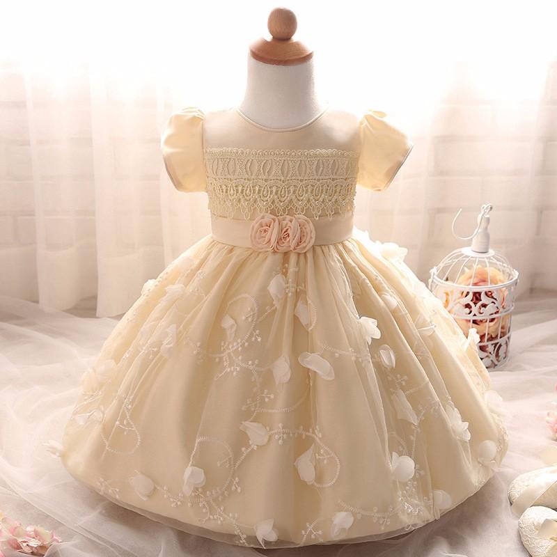 Baby Girls Dress 2016 New Fashion Kids Princess Birthday Party Tulle Wedding Dresses Christmas Dress Newborn Infant Clothes 0-2Y-3