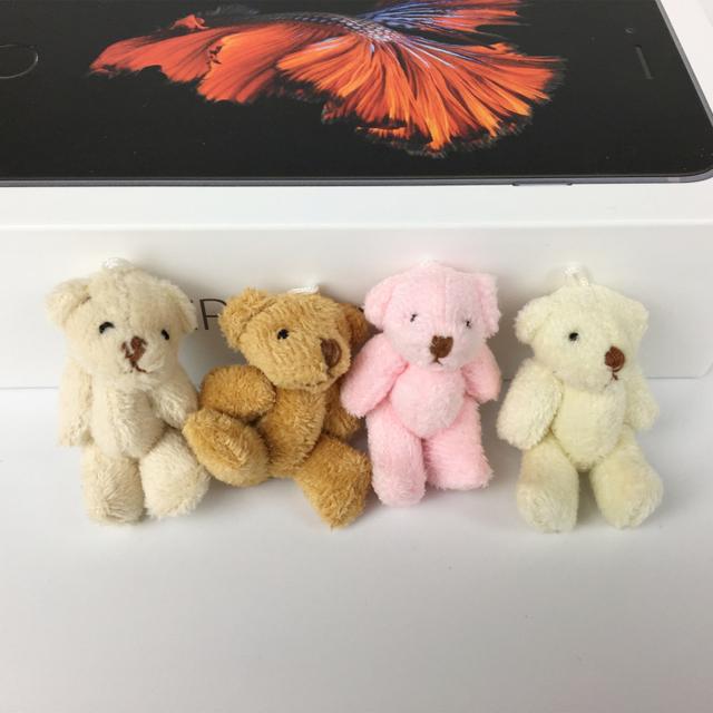 100 Шт./лот whalesale Супер Симпатичный Мини 4 см Совместное Боути Медведь Короткие Плюшевые Куклы Свадебный Подарок Для Детей игрушки BL1161-100pc
