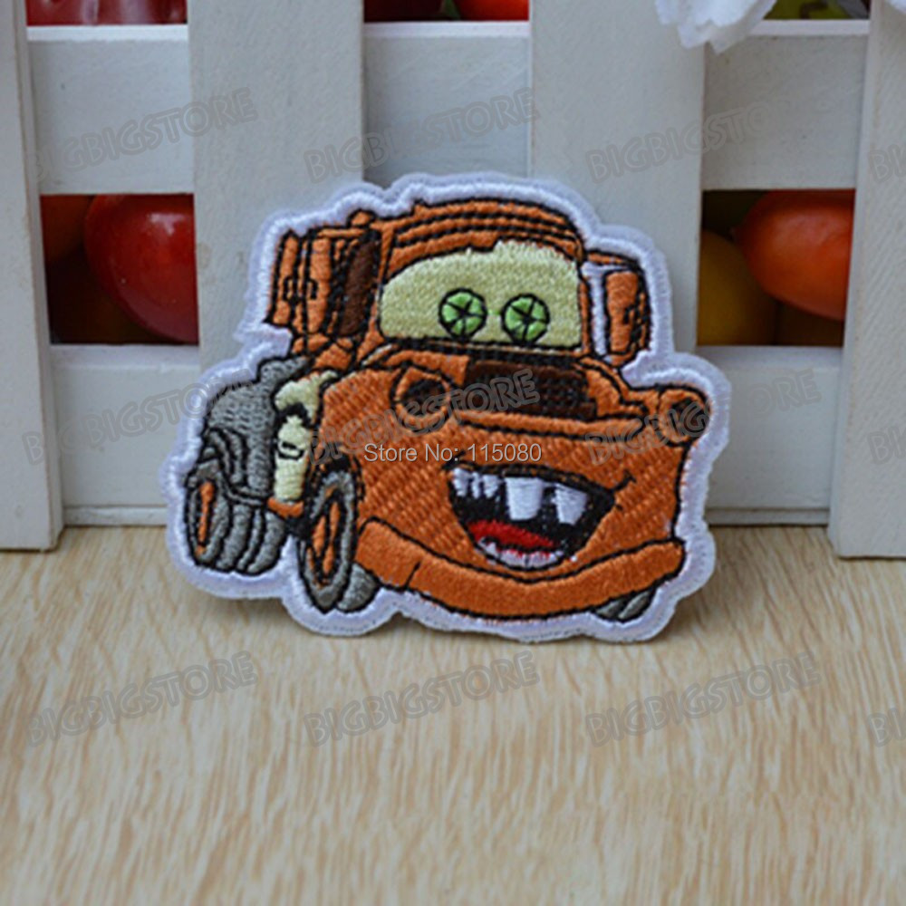 Wholesale lots 20 Cartoon cars Luigi fabric Embroidered Motif patch garment cloth embroidery sewing or Iron-On Appliques(China (Mainland))