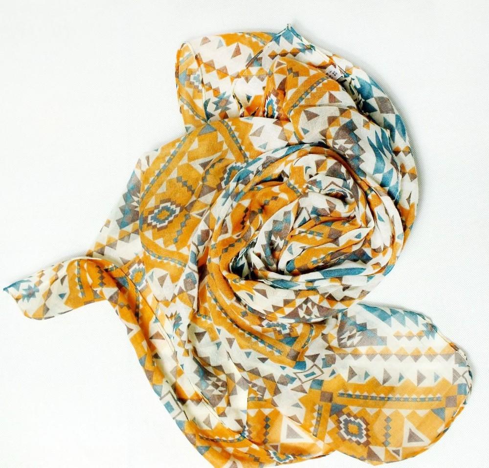 MiC Scarf Women Winter Autumn Bohemian Design Wrap Fashion Shawl Aztec Print Style Voile 180x75cm export Japan  -  7 kingdom store