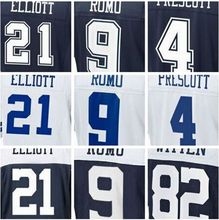 SexeMara best quality,Men's Ezekiel new Elliott Dak daft Prescott Emmitt white Smith Jason blue Witten Dez elite Bryant jersey(China (Mainland))