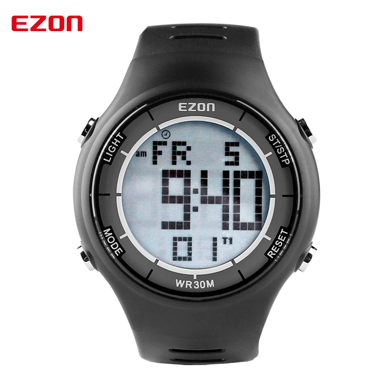 Fashion Men Sports Watches EZON L008 Multifunctional Outdoor Sports Watches Waterproof Digital Watch