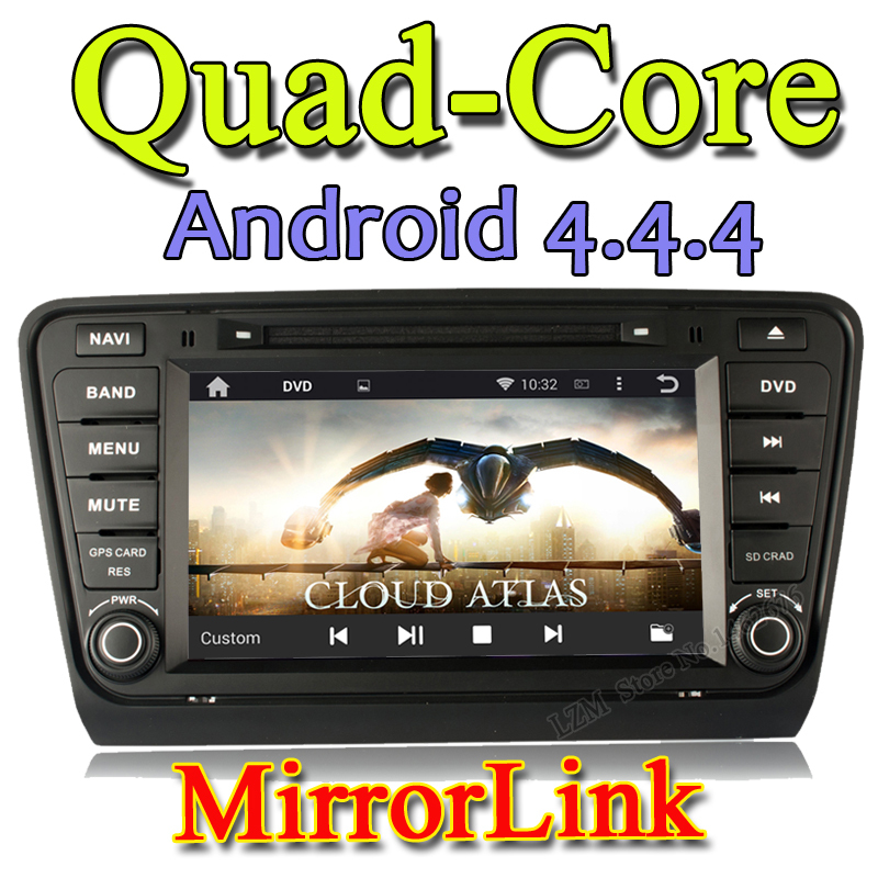 """8"""" Android 4.4.4 Multi-touch Screen 3G HD Two Din Car PC Bluetooth 3G Wifi GPS Car DVD playerfor Skoda Octavia III 2014 2015 A7(China (Mainland))"""