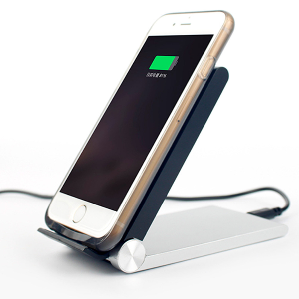 3 coils qi wireless charger receiver charging pad stand holder for qi enabled smartphones iphone. Black Bedroom Furniture Sets. Home Design Ideas