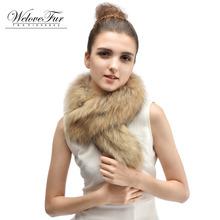 Women's Real Raccoon Fur Scarf Natural Raccoon Fur Collar Winter Warm Fur Collar Scarves Design For Lady(China (Mainland))