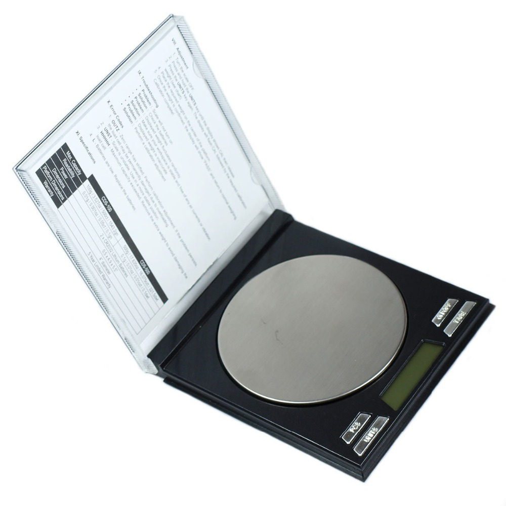 100g x 0.01g Digital Scale CD Case Style Portable Precision mini Scale jewelry hand scale(China (Mainland))