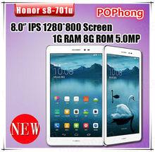 J  Huawei Honor S8 701u Tablet PC MSM8212 Quad Core 8 inch 3G Phone Call 4800mAh Battery 1GB+8GB HDMI WIF GPS Variety Color(China (Mainland))