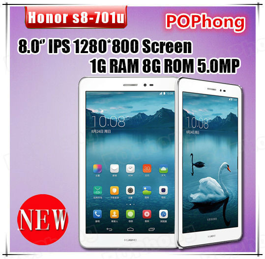 J Huawei Honor S8 701u Tablet PC MSM8212 Quad Core 8 inch 3G Phone Call 4800mAh