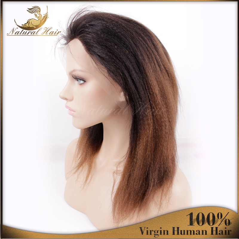 In Stock  Kinky Straight Wigs Hot Selling Heat Full Lace Wig Brazilian Virgin Weave Women Grace Lace Front Wigs Shipping(China (Mainland))