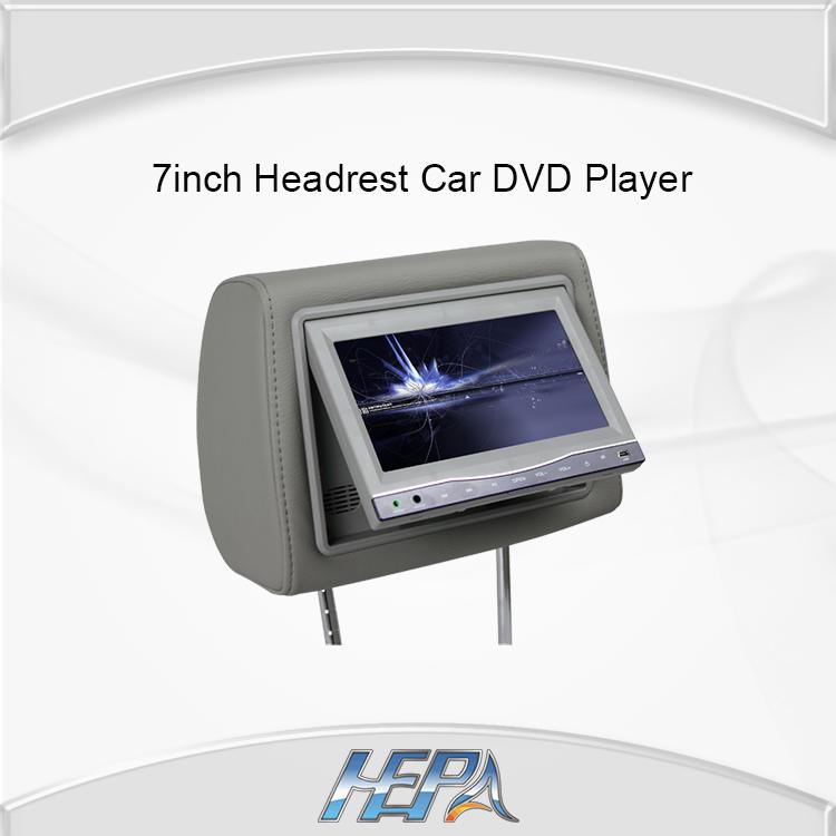 HEPA 7inch TFT Digital Screen SONY Lens Headrest Car DVD Player Stereo USB with MP5 IR