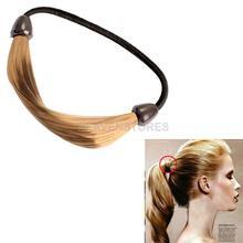 Wig Plaits Elastic Braid Rope Ponytail Hair Hairpiece Band Holder Blond hv3n(China (Mainland))