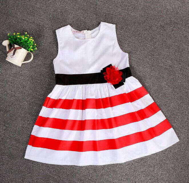 2015 hot sale  Summer high quality  girls  dresses new design cheap clothes made in china(China (Mainland))