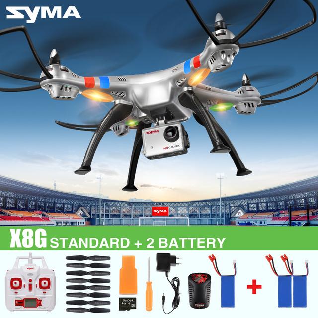 Syma X8C X8G X8W 2.4 г 4CH 6 ось бпла беспилотный квадрокоптер с камерой 2MP wi-fi в режиме реального времени HD камера удаленного управления вертолетом дети игрушки дрон
