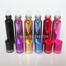 20pcs/lot 10ml glass perfume bottles wholesale refillable roll on bottles for essential oils glass vials with roller ball(China (Mainland))