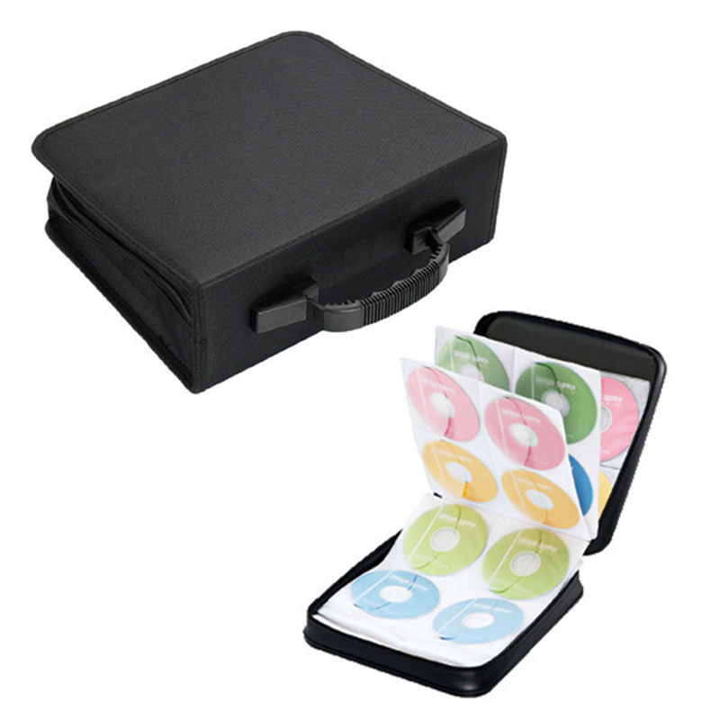 New Arrival Portable 288 Capacity Disc CD DVD Storage Holder Box Cover