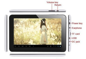 """On sale!   Dual camera 9"""" Android 4.0 Allwinner A13 Cortex A8 512MB 8GB or 16GB Capacitive Screen Tablet PC"""