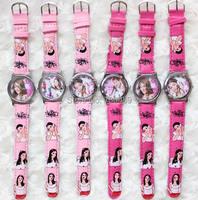 Wholesale 10 pcs/lot HOT Sale Fashion Cartoon Watch Violetta Watches woman children kids watch Pink color