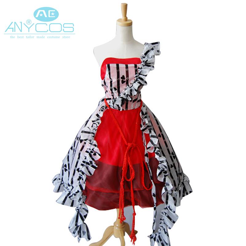Tim Burton Alice In Wonderland Alice Red Court Um Uniform Girls Dress Halloween Cosplay Costumes For Women Custom Made(China (Mainland))
