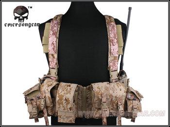 EMERSON LBT 1961A-R Chest Rig Tactical Vest Airsoft Painball Military Army Combat Gear AOR1 Digital EM2977B