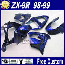 Motorcycle fairings for Kawasaki Free custom fairings1998 1999 ZX9R Ninja zx9r 98 99 dark blue bodykit+7Gifts