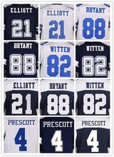Men's 21 EZEKIEL 88 DEZ 82 JASON 4 Dak BLUE WHITE Throwback elite jerseys(China (Mainland))