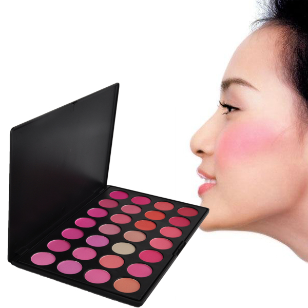 New Fashion Beauty Product Natural 28 Color Makeup Blush Facial Care Blusher Powder Palette Cosmetic Set(China (Mainland))
