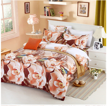 2015 Luxury 3D Bedding Sets Printed Animal 3D Flower Scenery Bed Set Bedclothes Comforter Duvet Cover/Sheet/Pillowcase BS33(China (Mainland))
