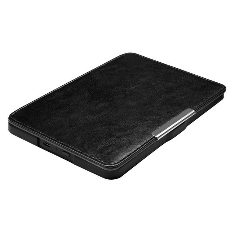 Hot selling Super Black Magnetic Auto Sleep Leather Cover Case For Amazon Kindle Paperwhite 1 2