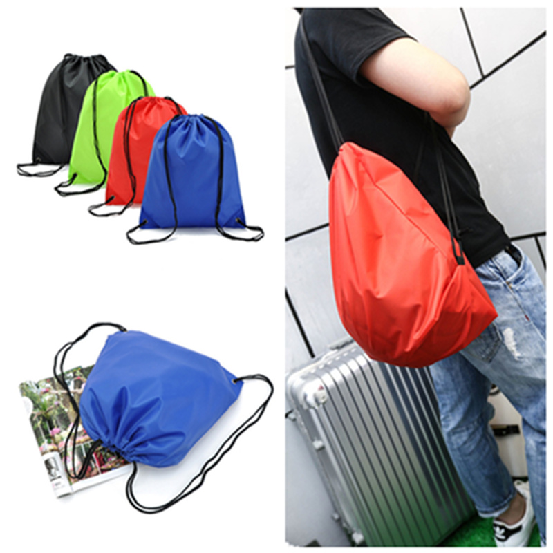 Simple Waterproof Nylon Drawstring Dust Shoes Bag Outdoor Sport Football Packback Travel Storage Pouchs(China (Mainland))