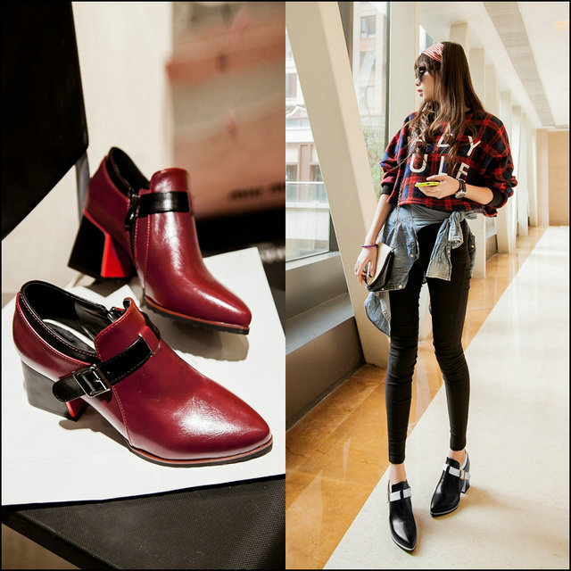 Simple fashion spring/summer in England with low wind College old Velcro shoes<br><br>Aliexpress