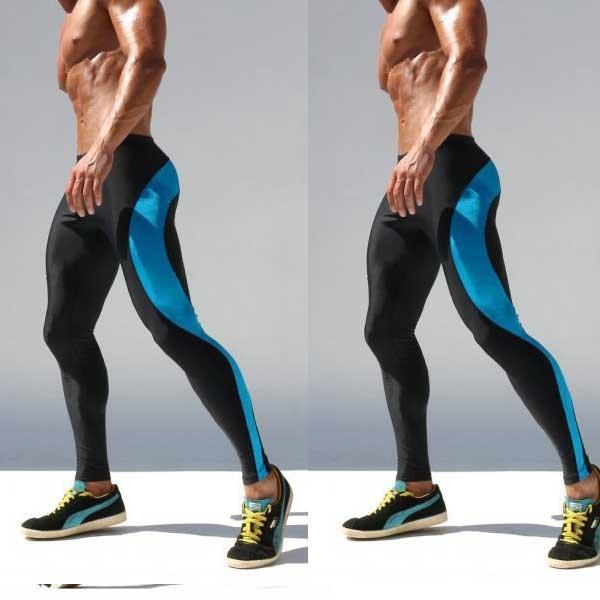 Мужские бегунов сжатия брюки стрейч спорт Pantalones спандекс открытый обучение футбол ...