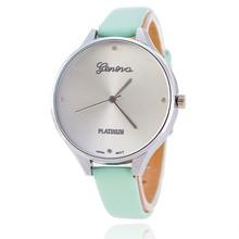 VANSVAR Leather Strap Women Wrist Watch Fashion Geneva Watch Hot Casual Quartz Watch Reloj Mujer Relogio Feminino 1808