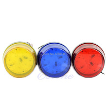S111  Free Shipping 1 Pieces LED 12V Security Alarm Strobe Signal Warning Blue Red Yellow Flashing Light