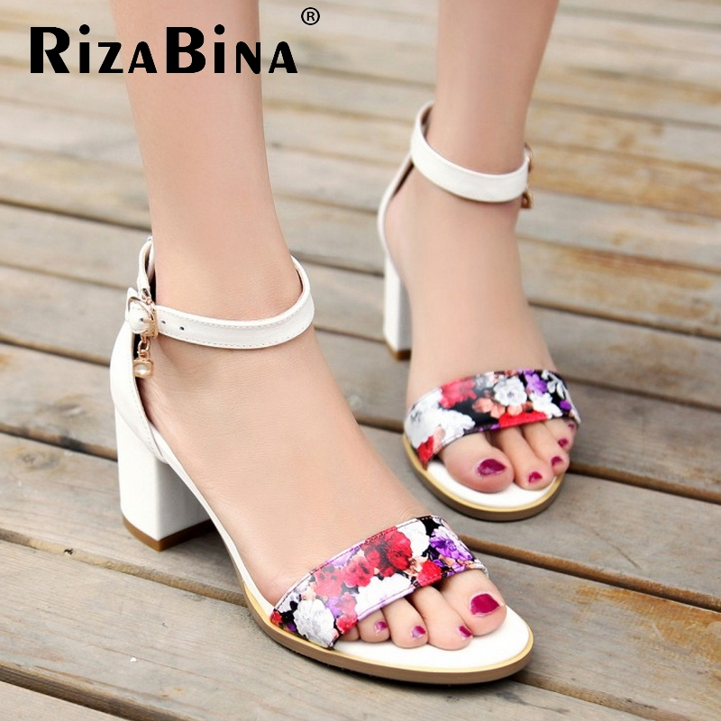 women stiletto real genuine leather flower ankle strap high heel sandals sexy fashion brand heeled ladies shoes size 33-40 R6296<br><br>Aliexpress