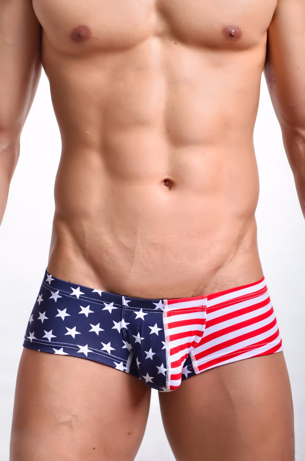 New Mens Sexy Underwear Boxer Shorts Trunks New Low Waist Designed Mens Boxers Cotton Gay Penis Pouch S M L XL