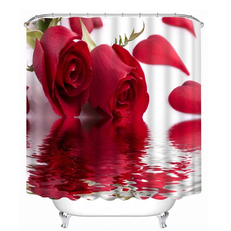Cortinas De Baño Rosa:Promoción de Rosa Cortina De La Ducha – Compra Rosa Cortina De La