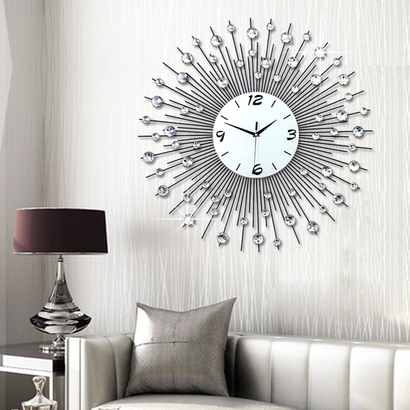 Luminousness living room wall clock large brief fashion for Living room wall clocks