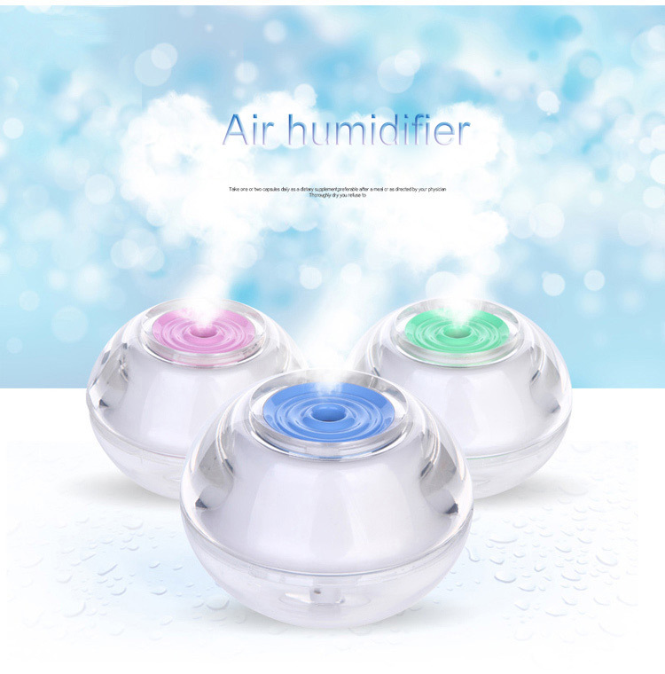 Air Humidifier for Home High Quality Fashion Household Office Mist Discharge Air Humidifier Led Night Light Air Purifier Car(China (Mainland))