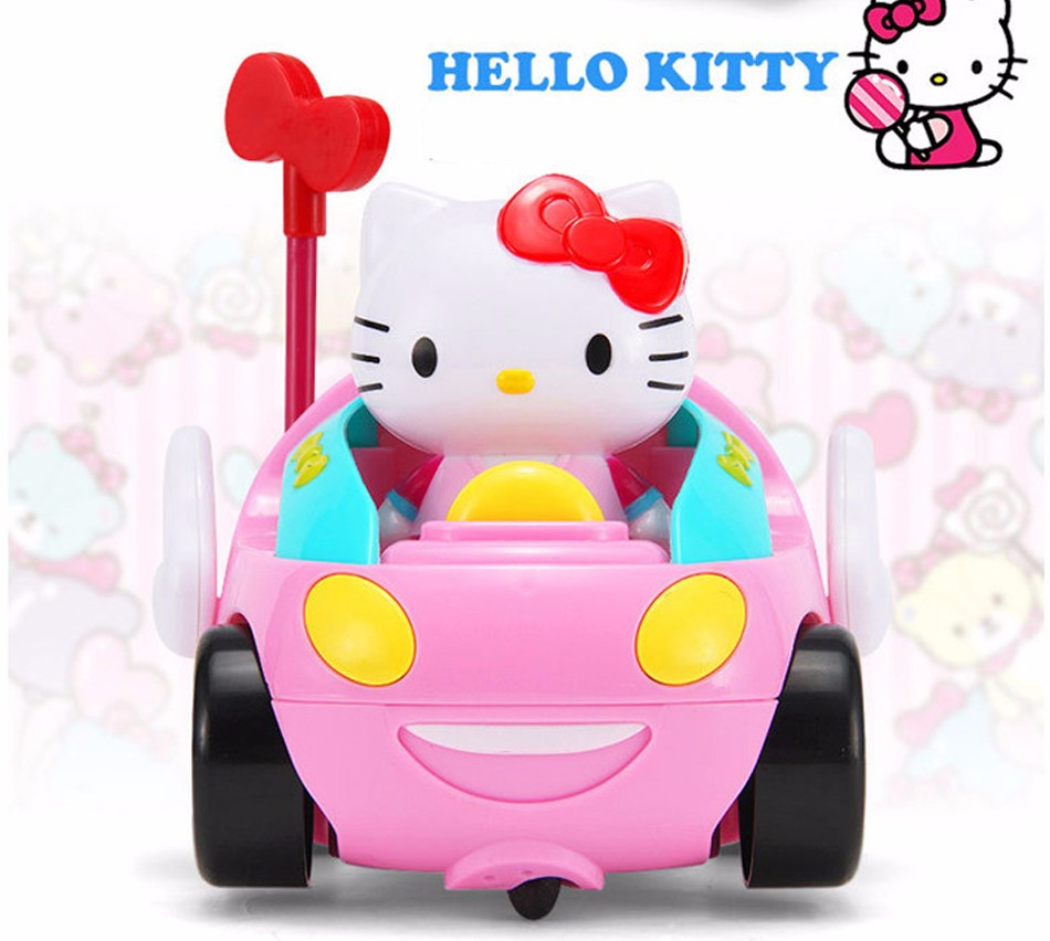 Hello Kitty Toy Car For Girls : Baby girl rc remote control hello kitty car music