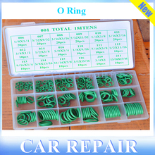 """O ring seal kit 18 grid 270PC Auto Air Conditioning Refrigerant Ring O-ring Kit Green Metric """"O""""-ring Seal Seals Nitrile Rubber"""