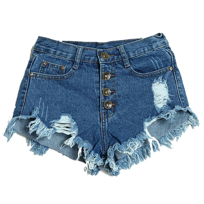 Newly Design Summer Brand Sexy Women's Fashion Slim Fit Bore Hole Denim Jeans Shorts For Lady May15 ZQ(China (Mainland))