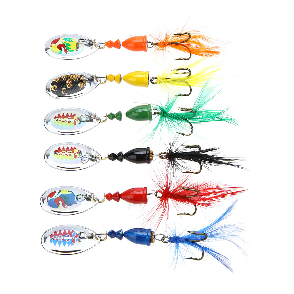 Приманка для рыбалки OEM 6Pcs 7 4g Spoon lure