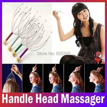 manual vibrating scalp handle head massager personal care massager